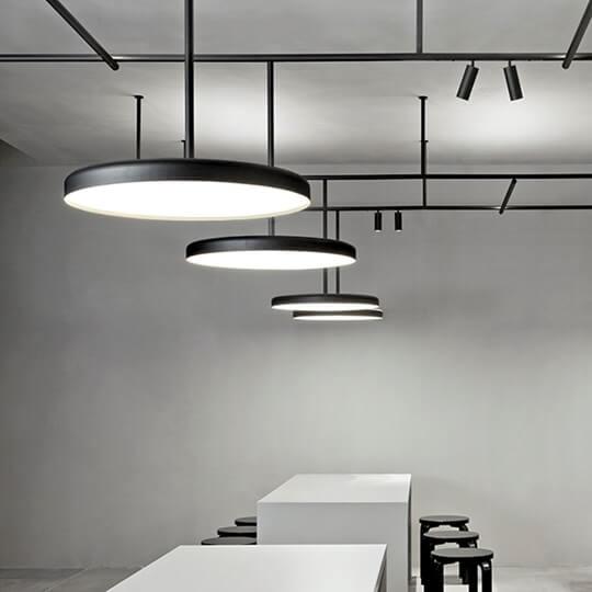 Lubinių šviestuvų sistema Infra-Structure