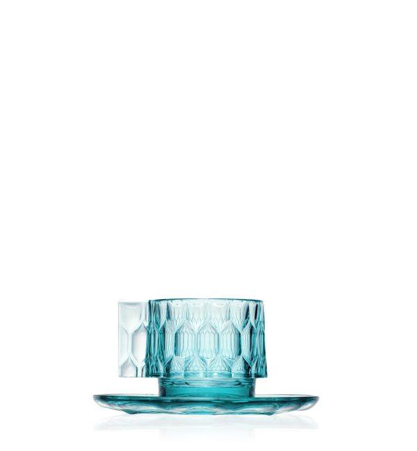 """Kartell espreso puodeliai su lėkštutėmis """"Jellies Family"""" 4vnt."""