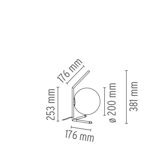 """Flos stalinis šviestuvas """"IC T1 Low"""""""