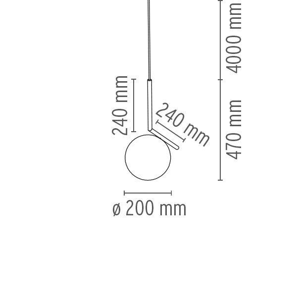 """Flos pakabinamas šviestuvas """"IC S1"""""""