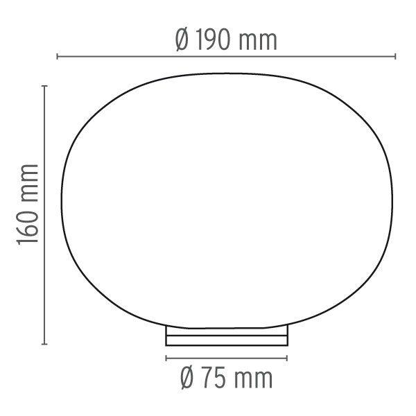 """Flos stalinis šviestuvas """"Glo-Ball Basic Zero"""""""