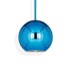 """Tom Dixon pakabinamas šviestuvas """"Copper Round Blue"""""""