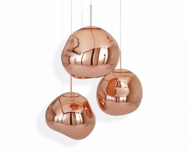 "Tom Dixon pakabinamas šviestuvas ""Melt Copper"" 50cm"